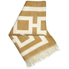 Camel Nixon Baby Alpaca Throw Blanket