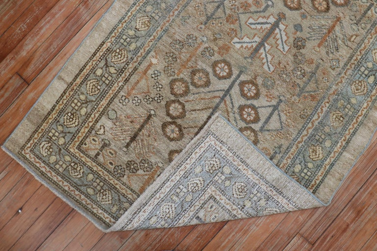 Hand-Woven Camel Tribal Antique Persian Serab Decorative Rug Mat For Sale