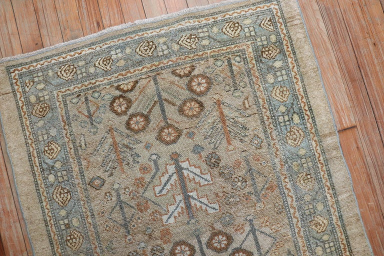Camel Tribal Antique Persian Serab Decorative Rug Mat In Good Condition For Sale In New York, NY