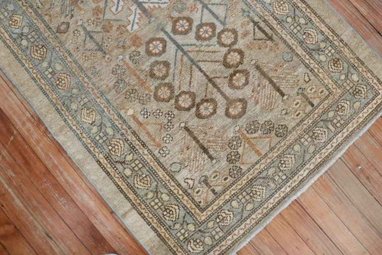 20th Century Camel Tribal Antique Persian Serab Decorative Rug Mat For Sale