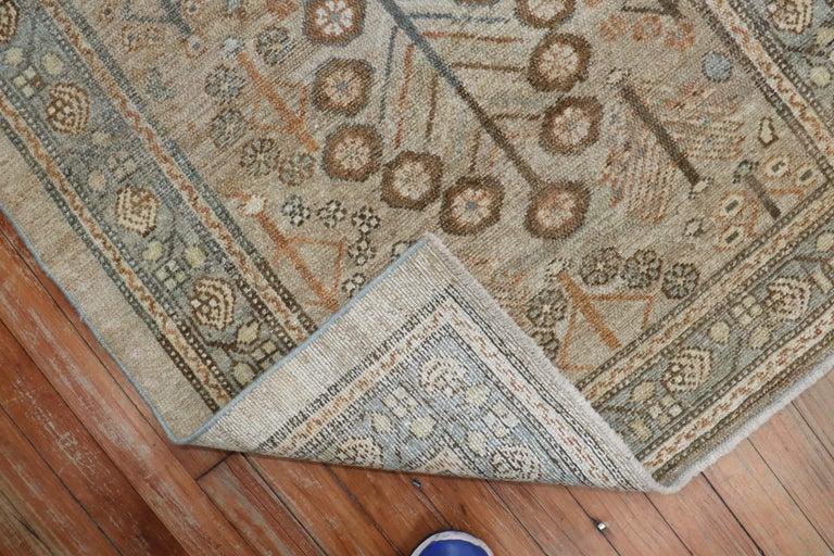 Wool Camel Tribal Antique Persian Serab Decorative Rug Mat For Sale