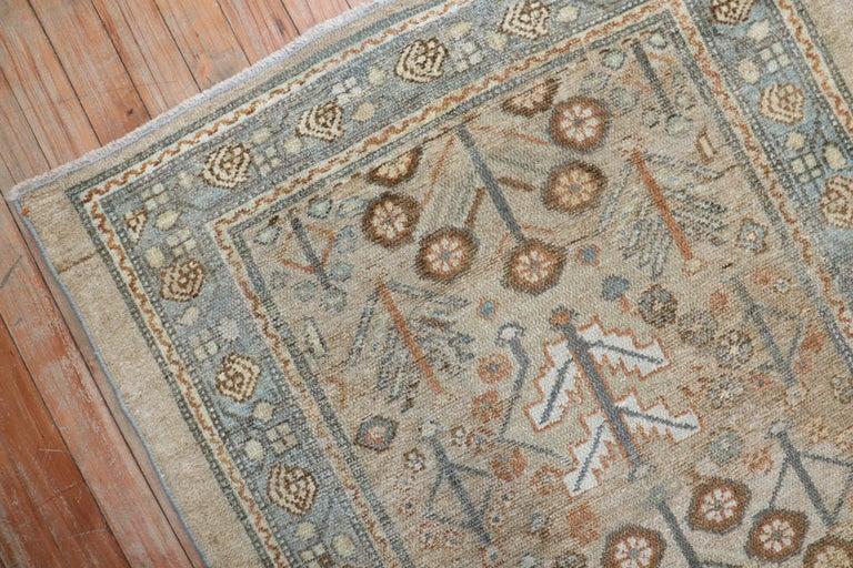 Camel Tribal Antique Persian Serab Decorative Rug Mat For Sale 2