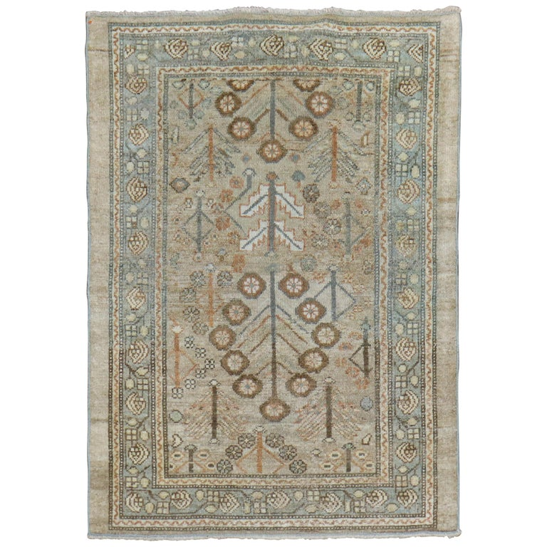Camel Tribal Antique Persian Serab Decorative Rug Mat For Sale