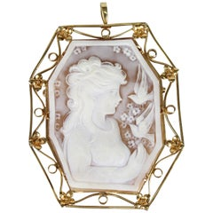 Cameo Brooch in 18 Karat Gold