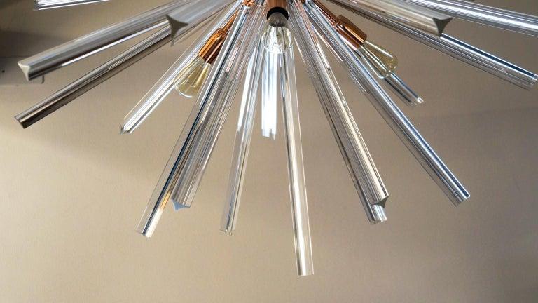 Camer Glass Mid-Century Modern Crystal Murano Chandelier Sputnik, 1982 For Sale 12