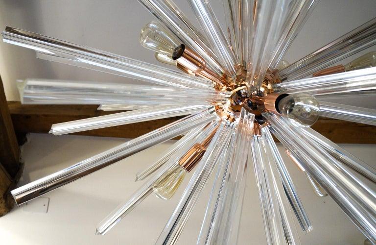 Art Glass Camer Glass Mid-Century Modern Crystal Murano Chandelier Sputnik, 1982 For Sale