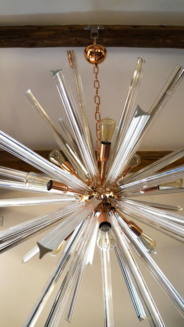 Camer Glass Mid-Century Modern Crystal Murano Chandelier Sputnik, 1982 For Sale 1