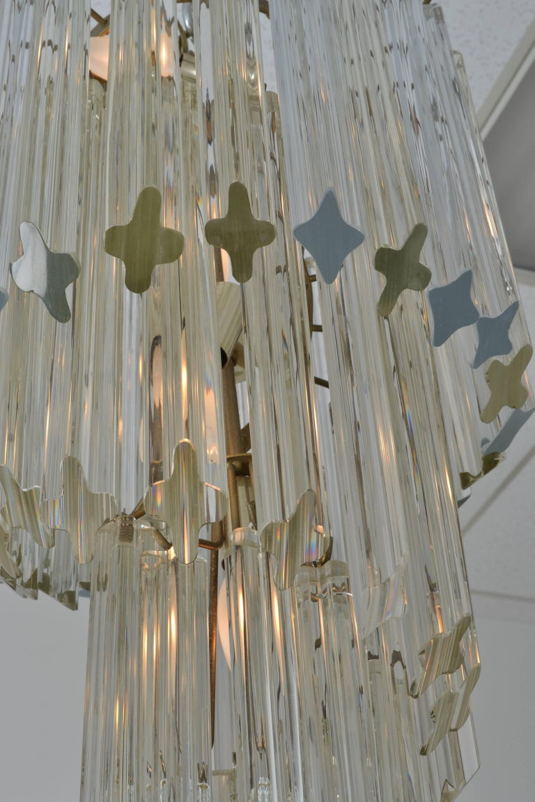 Italian Camer Spiral Chandelier, Italy, 1970s For Sale