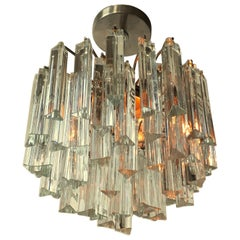 Camer, Venini Solid Glass Chandelier or Pendant, 1960s, Italy