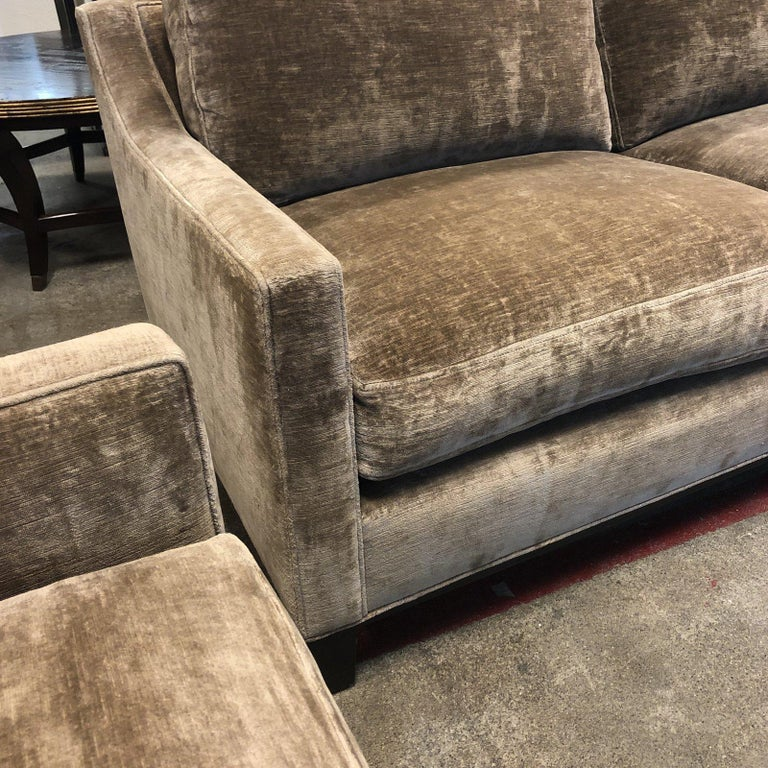Cameron Collection Lower Park Avenue Loveseat and Sofa For Sale 7