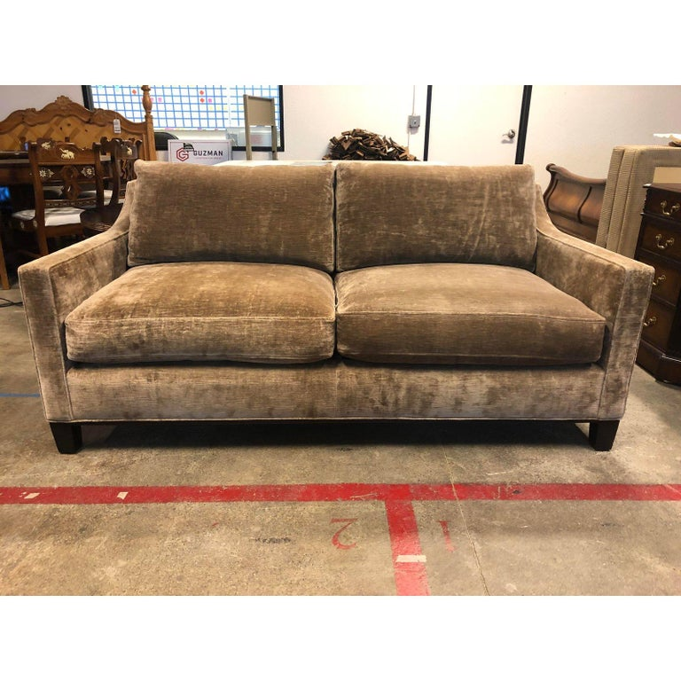 Contemporary Cameron Collection Lower Park Avenue Loveseat and Sofa For Sale