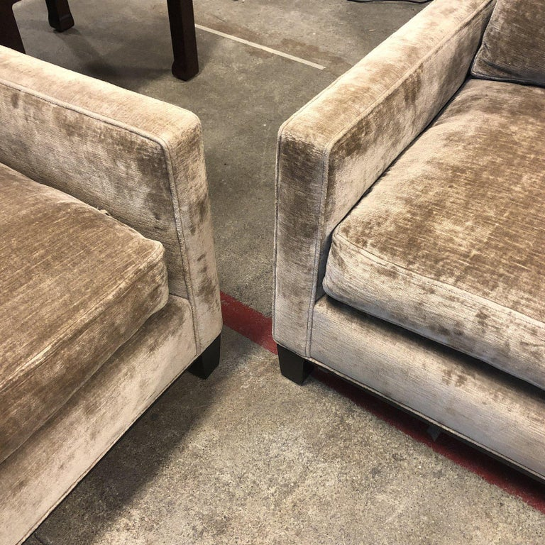 Cameron Collection Lower Park Avenue Loveseat and Sofa For Sale 5