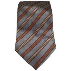 Camicia grey multicoloured silk tie