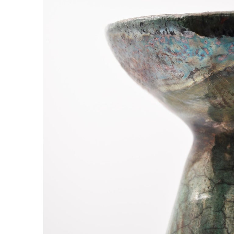 Camilla 1 Raku Vase by Nino Basso In New Condition For Sale In Milan, IT