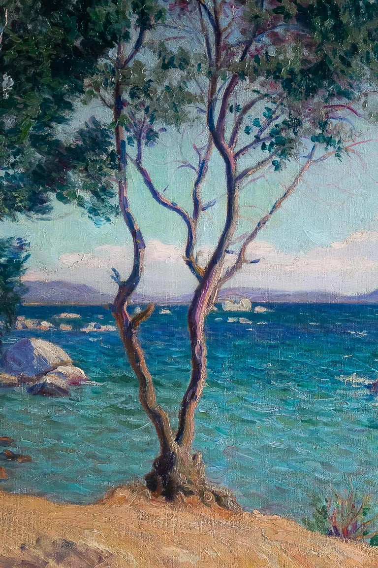 Early 20th Century Camille Boiry, Oil on Canvas Provencal Landscape, circa 1920 For Sale