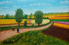Les champs entre Locher et Amboise