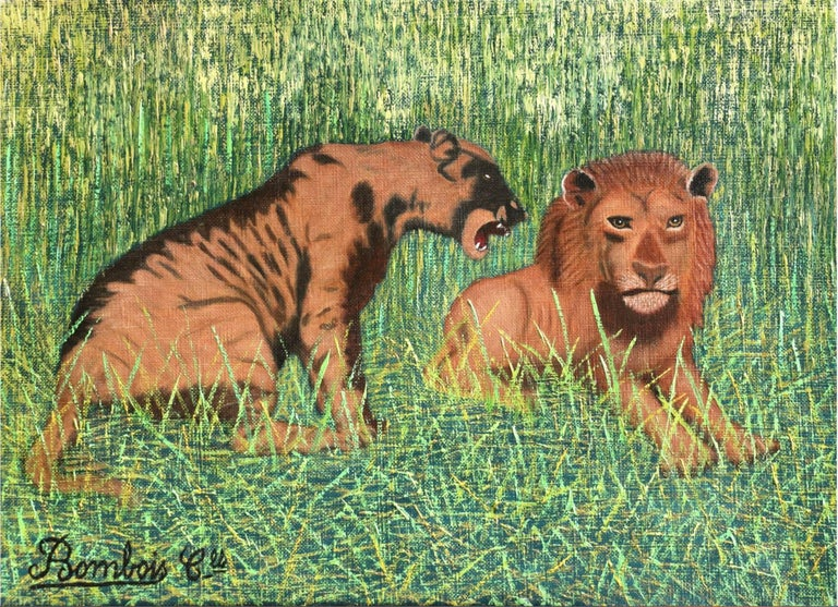 Camille Bombois Animal Painting - Lions