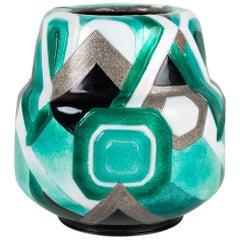 Camille Fauré Art Deco Enemalled Copper Vase