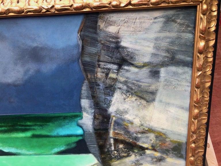 Oiled Camille Hilaire 'La grande falaise' For Sale