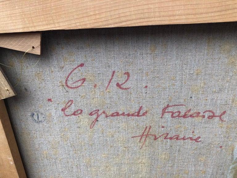 Canvas Camille Hilaire 'La grande falaise' For Sale