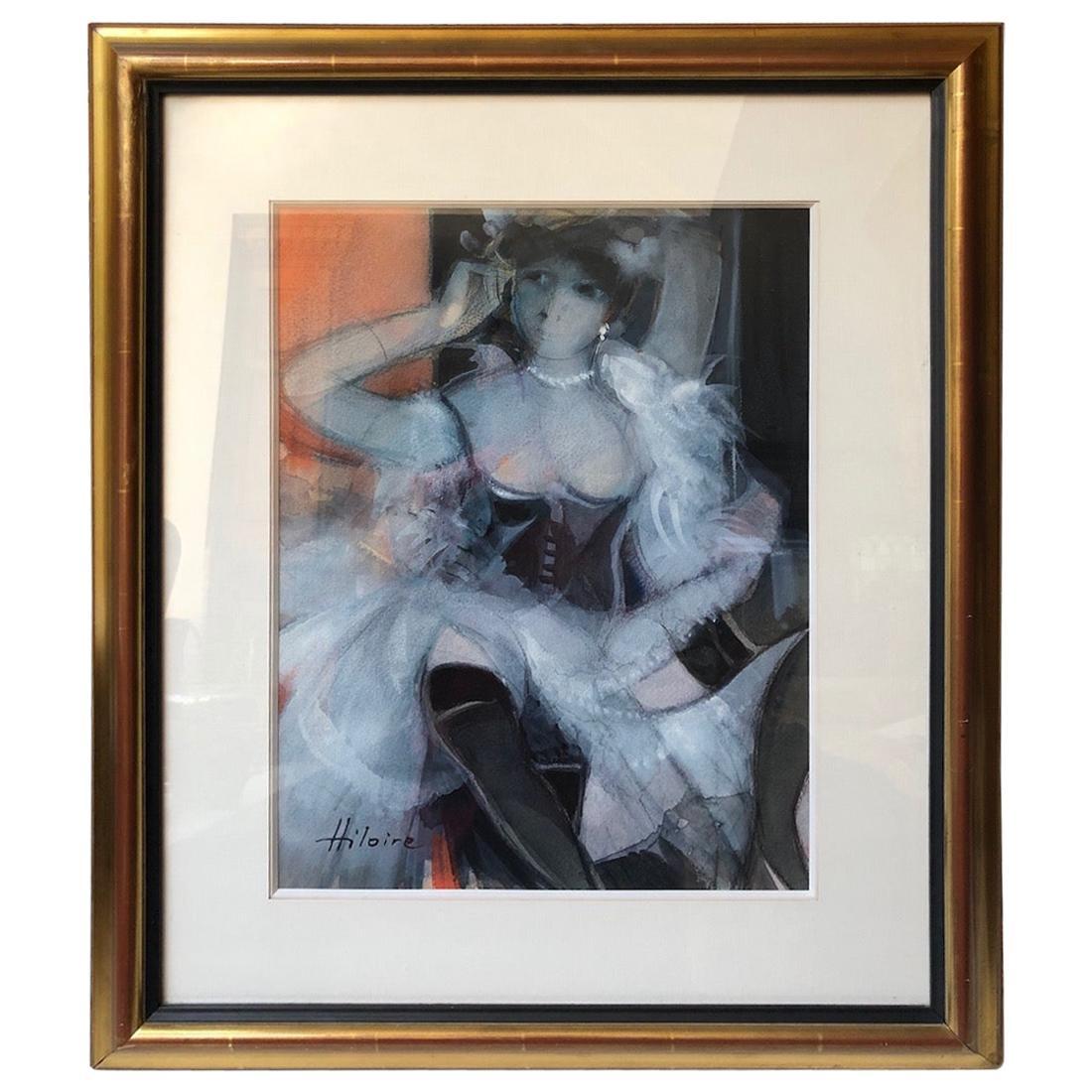 Camille Hilaire, 'La Belle Otero' Watercolor Painting