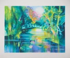 Giverny : The Bridge in Monet's Garden - Original lithograph
