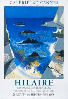 """Hilaire - Paysages Mediterraneens - Cannes"" Seascape Exhibition Poster"