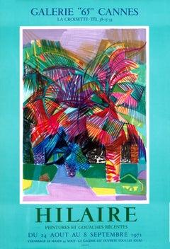 """""""Hilaire Peintures et Goauches Recentes - Galerie 65 Cannes"""" Exhibition Poster"""