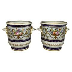 Camille Le Tallec Porcelain Pair of Cachepot