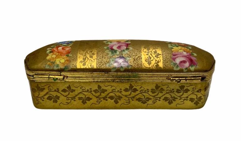 Neoclassical Camille Le Tallec Porcelain Rectangular Dresser Box For Sale