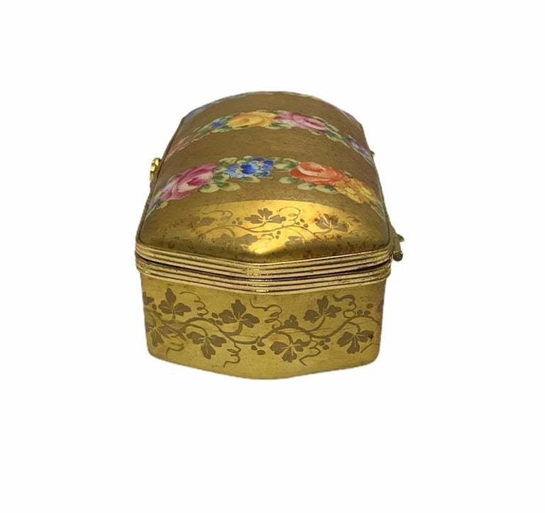 20th Century Camille Le Tallec Porcelain Rectangular Dresser Box For Sale