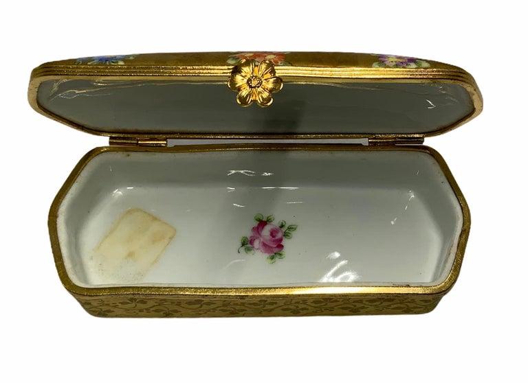 Camille Le Tallec Porcelain Rectangular Dresser Box For Sale 1