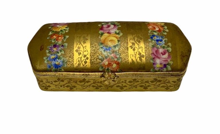 Camille Le Tallec Porcelain Rectangular Dresser Box For Sale 2