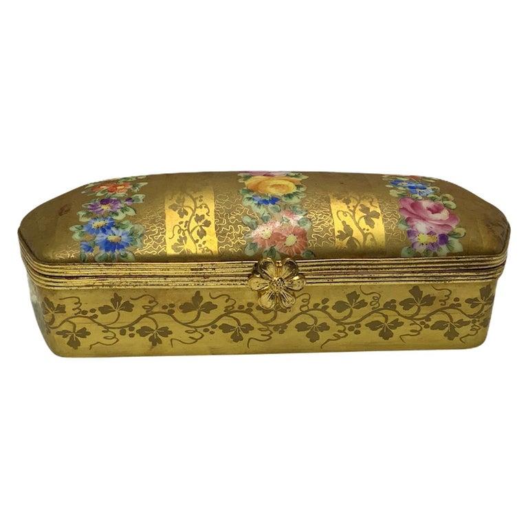 Camille Le Tallec Porcelain Rectangular Dresser Box For Sale