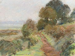 Camille Meriot, Pastel French Impressionist Landscape View