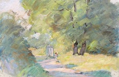 Camille Meriot, Pastel French Impressionist Sunlit Country Tranquil Lane
