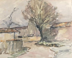 Farm Buildings, French Impressionist painting
