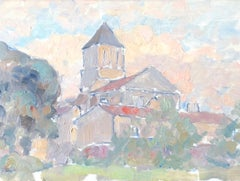 French Village, French Impressionist Oil painting