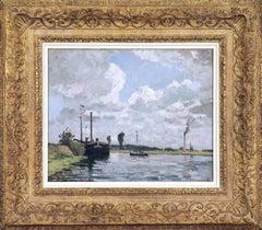 Bords de l'Oise, Environs de Pontoise by CAMILLE PISSARRO - Impressionist art