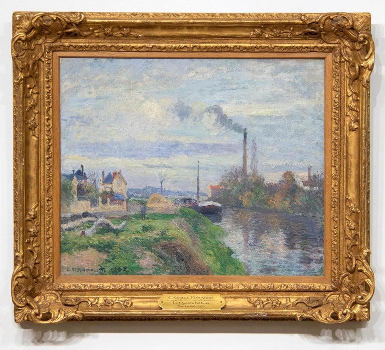 Le Quai de Pothuis a Pontoise - Painting by Camille Pissarro