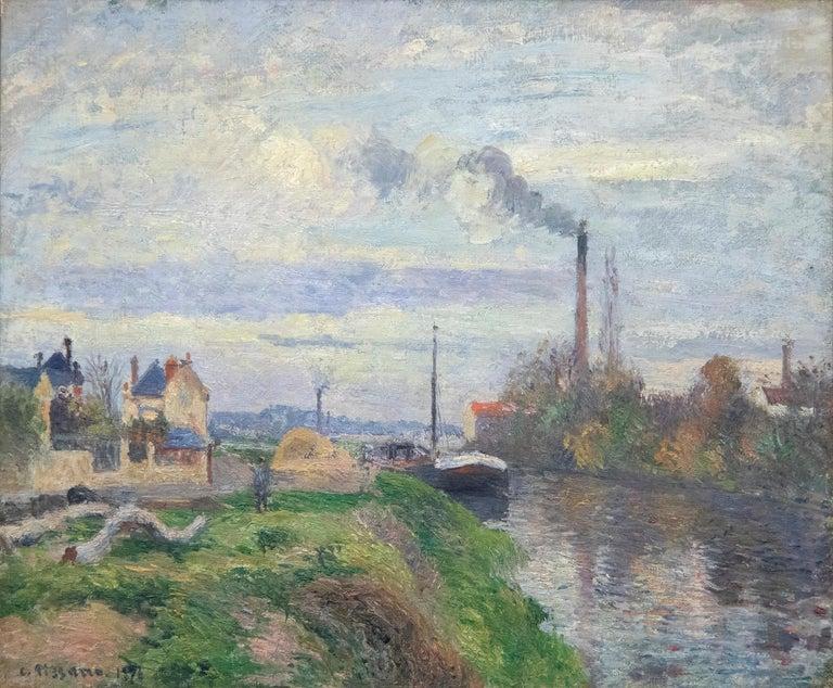 Camille Pissarro Landscape Painting - Le Quai de Pothuis a Pontoise