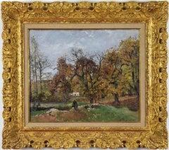 Le Ru de Montbuisson, Louveciennes by CAMILLE PISSARRO - Impressionist painting
