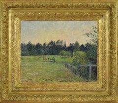 """Camille Pissarro """"Vacher dans un pré à Éragny"""" (Cowherd in a Meadow at Éragny)"""