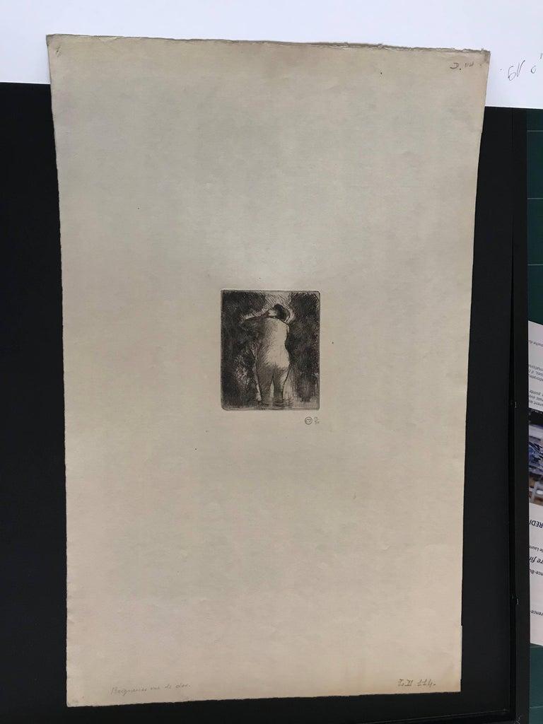 Baigneuse vue de dos - Print by Camille Pissarro