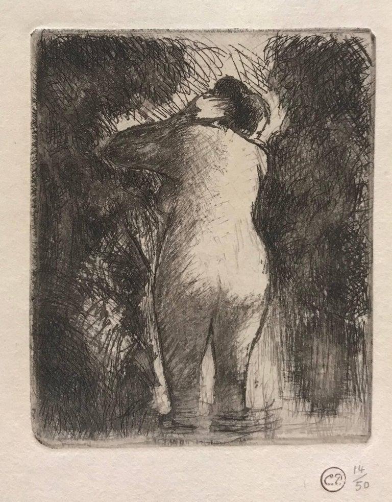 Camille Pissarro Nude Print - Baigneuse vue de dos