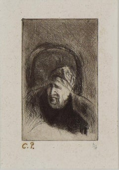 Grand'mère dans son Fauteuil (La Mère de l'Artiste), Etching by CAMILLE PISSARRO