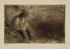 Paysan, Le Père Melon (Farmer, Father Melon) by Camille Pissarro - Etching