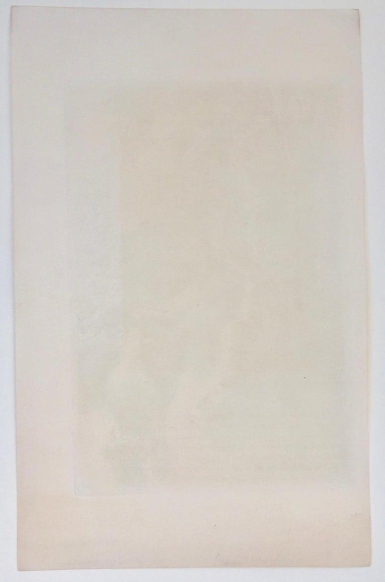 Vachère au Bord de l'Eau  - Gray Figurative Print by Camille Pissarro