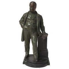 Camillo Benso Count of Cavour Bronze Sculpture, Late 19th Century