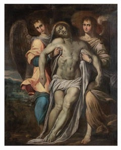 The Dead Christ Supported by the Angels - Oil on Canvas by Camillo Procaccini